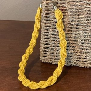 Jewelry - Yellow braided beads statement necklace